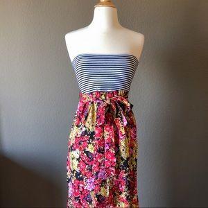 Strapless Maxi Dress Floral